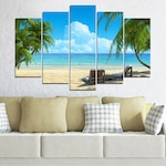 Декоративни панели Vivid Home от 5 части, Пейзаж, PVC, 110x65 см, Стандартна форма №0135