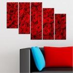 Картини пана Vivid Home от 5 части, Цветя, Канава, 110x65 см, 7-ма Форма №0160
