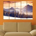 Декоративни панели Vivid Home от 5 части, Пейзаж, PVC, 110x65 см, 2-ра Форма №0145