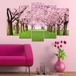 Декоративни панели Vivid Home от 5 части, Цветя, PVC, 160x100 см, Стандартна форма №0148