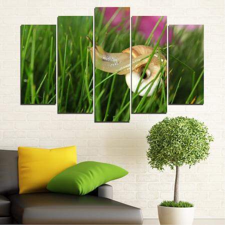 Декоративни панели Vivid Home от 5 части, Градина, PVC, 160x100 см, Стандартна форма №0187