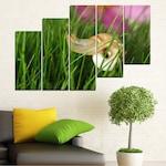 Декоративни панели Vivid Home от 5 части, Градина, PVC, 160x100 см, 8-ма Форма №0187