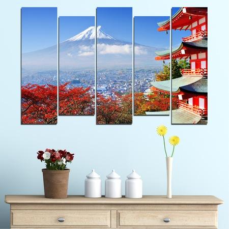 Картини пана Vivid Home от 5 части, Град, Канава, 110x65 см, 3-та Форма №0198