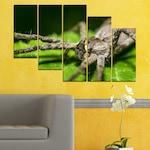 Декоративни панели Vivid Home от 5 части, Природа, PVC, 160x100 см, 7-ма Форма №0200
