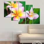 Картини пана Vivid Home от 5 части, Цветя, Канава, 110x65 см, 7-ма Форма №0201