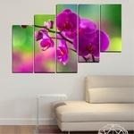 Картини пана Vivid Home от 5 части, Цветя, Канава, 110x65 см, 8-ма Форма №0202