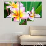 Картини пана Vivid Home от 5 части, Цветя, Канава, 110x65 см, 6-та Форма №0201