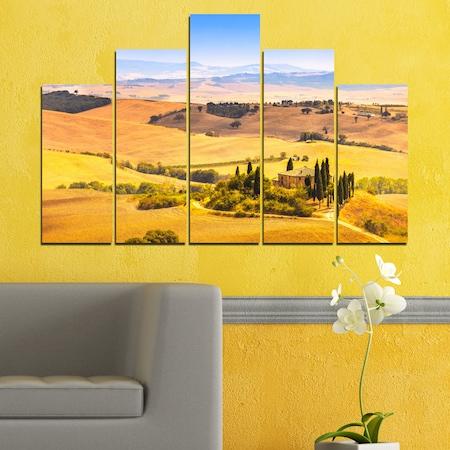 Декоративни панели Vivid Home от 5 части, Природа, PVC, 110x65 см, 5-та Форма №0217