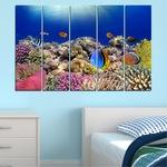 Картини пана Vivid Home от 5 части, Море, Канава, 160x100 см, 2-ра Форма №0219