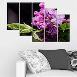 Картини пана Vivid Home от 5 части, Цветя, Канава, 110x65 см, 7-ма Форма №0231