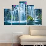 Декоративни панели Vivid Home от 5 части, Природа, PVC, 110x65 см, 5-та Форма №0234