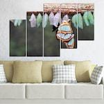 Декоративни панели Vivid Home от 5 части, Природа, PVC, 110x65 см, 8-ма Форма №0207