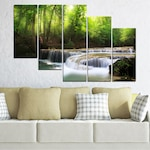 Декоративни панели Vivid Home от 5 части, Природа, PVC, 110x65 см, 7-ма Форма №0277