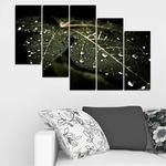 Декоративни панели Vivid Home от 5 части, Природа, PVC, 110x65 см, 7-ма Форма №0285