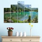 Декоративни панели Vivid Home от 5 части, Пейзаж, PVC, 110x65 см, 5-та Форма №0273
