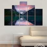 Декоративни панели Vivid Home от 5 части, Природа, PVC, 110x65 см, 5-та Форма №0279