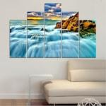 Декоративни панели Vivid Home от 5 части, Природа, PVC, 110x65 см, 5-та Форма №0315