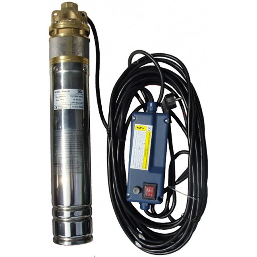Fotografie Pompa submersibila apa curata Omnigena 4OM0062, 1500 W, 220 V, 2700 l/h debit maxim, 150 m inaltime refulare, 16 bar presiune maxima, 15 m lungime cablu