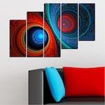 Декоративни панели Vivid Home от 5 части, Абстракция, PVC, 160x100 см, 8-ма Форма №0342