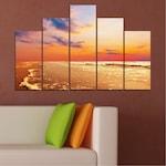 Декоративни панели Vivid Home от 5 части, Пейзаж, PVC, 110x65 см, 5-та Форма №0383