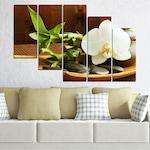 Картини пана Vivid Home от 5 части, Цветя, Канава, 110x65 см, 7-ма Форма №0449