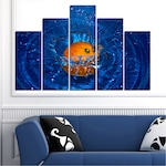 Картини пана Vivid Home от 5 части, Вода, Канава, 110x65 см, 5-та Форма №0527