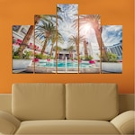 Картини пана Vivid Home от 5 части, Вода, Канава, 110x65 см, 5-та Форма №0558