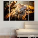 Декоративни панели Vivid Home от 5 части, Животни, PVC, 160x100 см, 2-ра Форма №0580