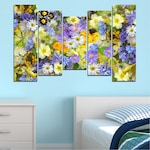 Декоративни панели Vivid Home от 5 части, Цветя, PVC, 160x100 см, 4-та Форма №0621