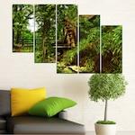 Декоративни панели Vivid Home от 5 части, Природа, PVC, 110x65 см, 7-ма Форма №0643