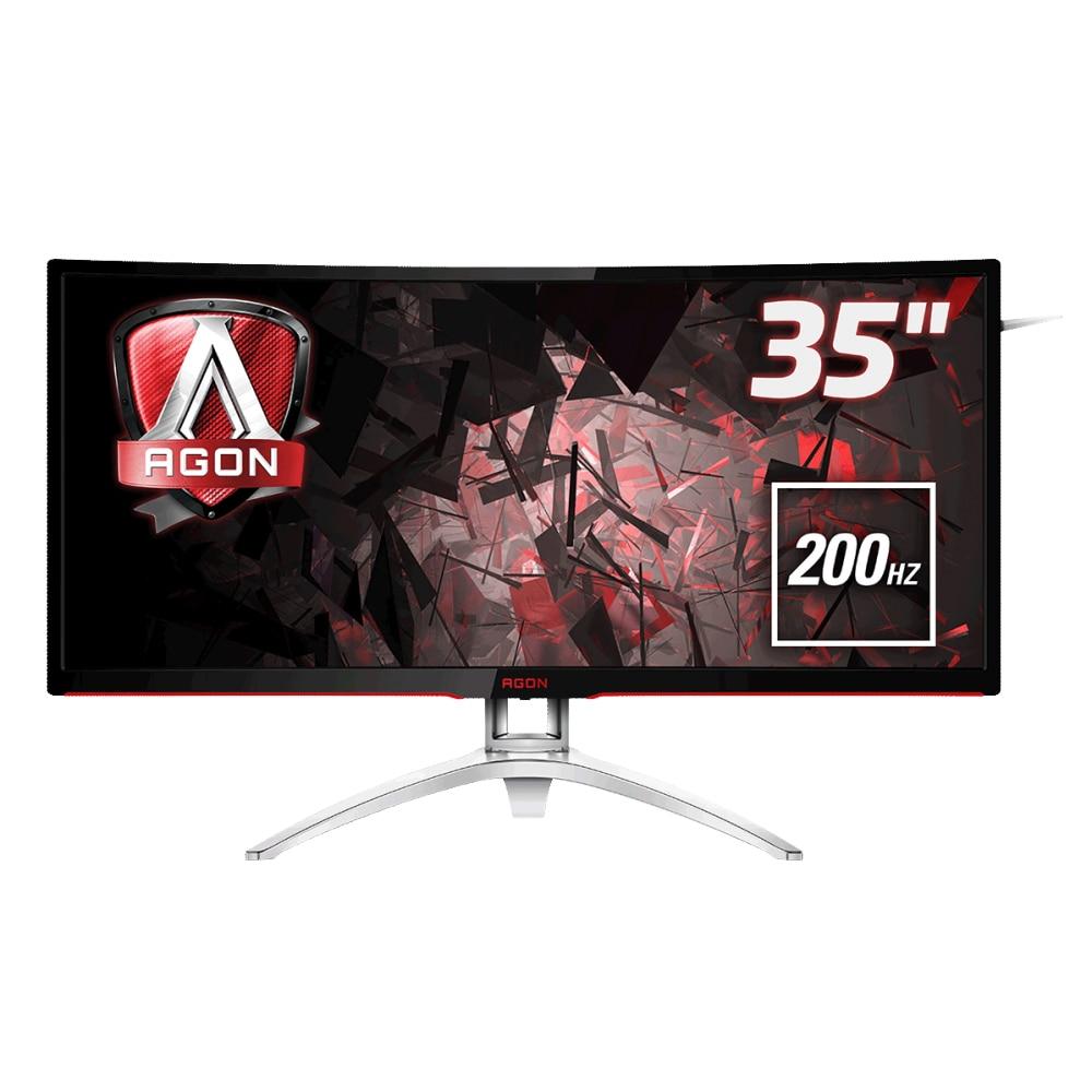 "Fotografie Monitor Curbat Gaming LED VA AOC Agon 35"", 200Hz, FreeSync, DisplayPort, HDMI, 4ms, Negru, Pivot, AG352QCX"