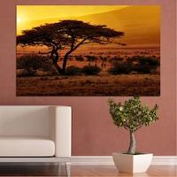 Картини пана Vivid Home от 1 част, Залез, Канава, 100x65 см, №0036