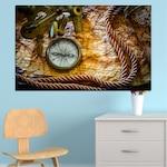 Декоративни панели Vivid Home от 1 част, География, PVC, 35x25 см, №0045