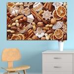 Декоративни панели Vivid Home от 1 част, Кулинарен, PVC, 100x65 см, №0259