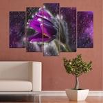 Декоративни панели Vivid Home от 5 части, Цветя, PVC, 160x100 см, Стандартна форма №0694