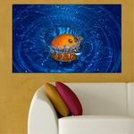 Декоративни панели Vivid Home от 1 част, Вода, PVC, 150x100 см, №0527