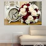 Декоративни панели Vivid Home от 1 част, Цветя, PVC, 35x25 см, №0577