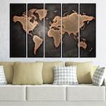 Декоративни панели Vivid Home от 5 части, География, PVC, 160x100 см, 2-ра Форма №0705
