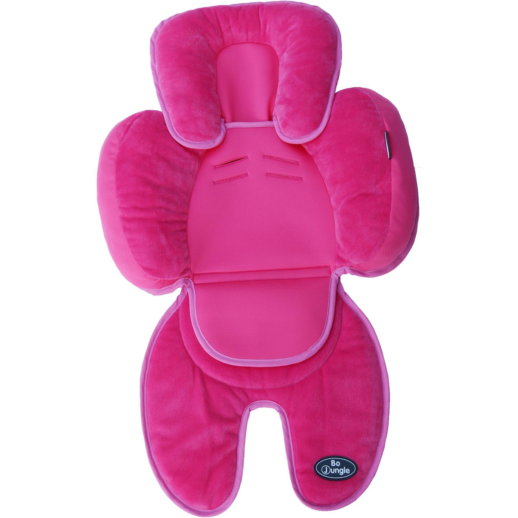 Fotografie Saltea suplimentara bebelusi BO Jungle, 3 in 1 pentru carucior, scaun auto, scoica, roz