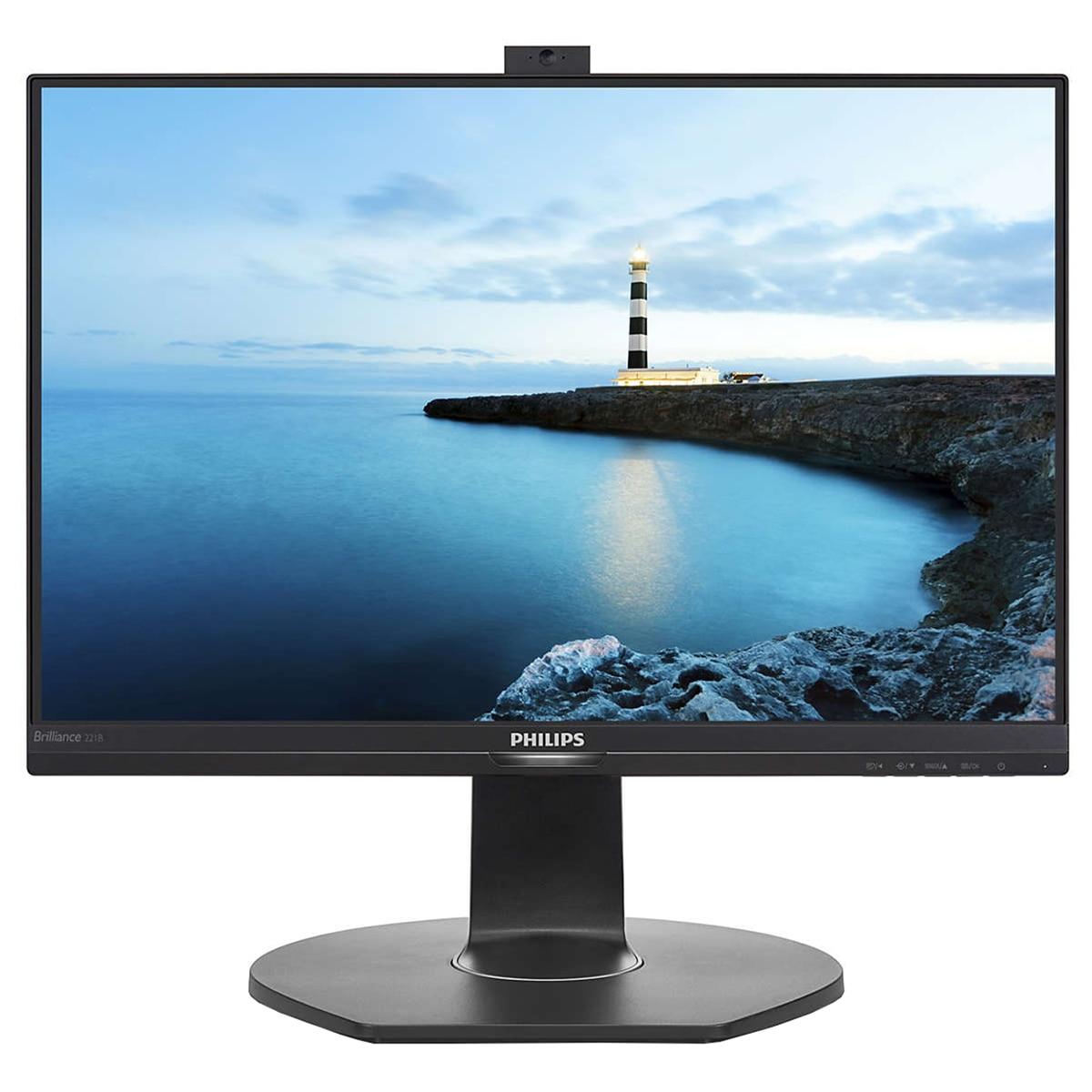 Fotografie Monitor LED Philips 22'', PowerSenzor, VGA, HDMI, DisplayPort, 221B7QPJKEB/00, Negru
