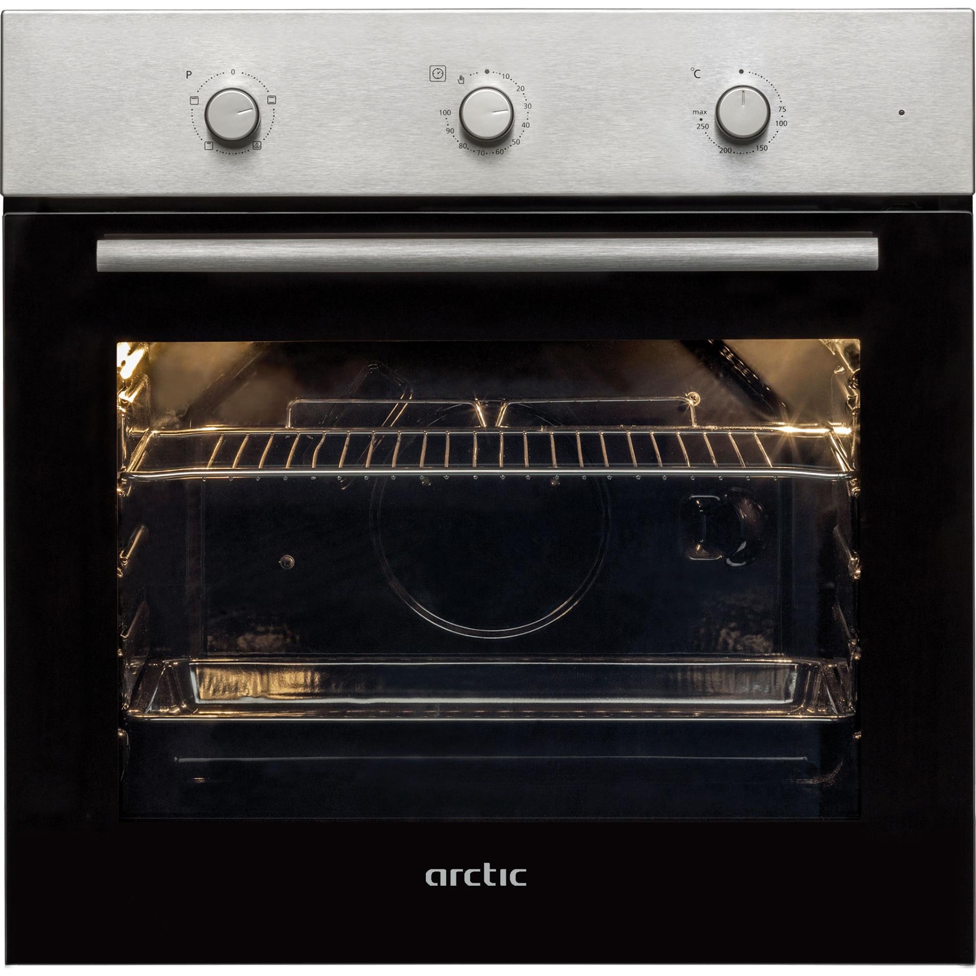 Fotografie Cuptor incorporabil Arctic AROIC21100H, Electric, Timer, Autocuratare Aqua Drop Clean, 71 l, Clasa A, Inox