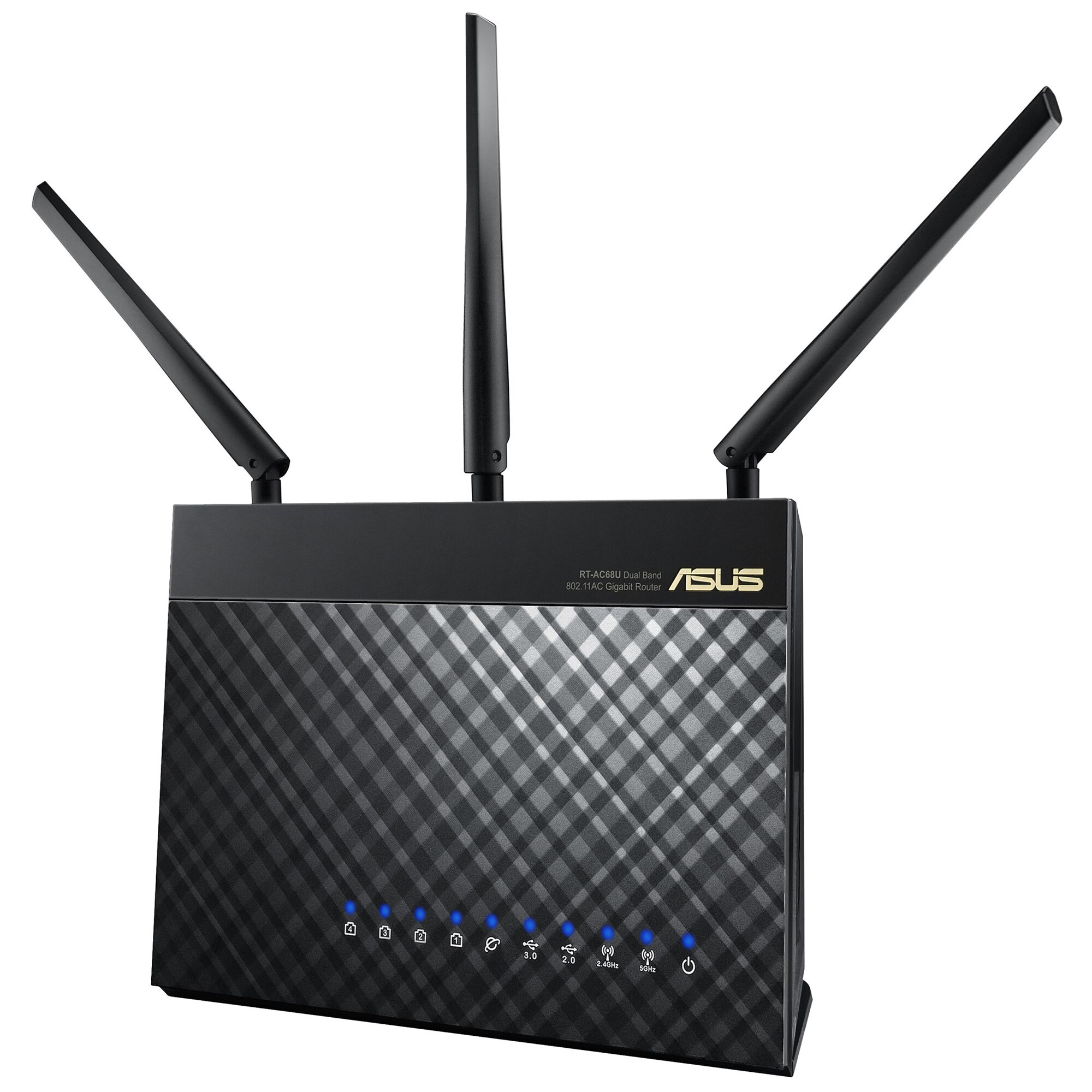 Fotografie ASUS RT-AC68U Dual-band Wireless-AC1900, AiMesh Gigabit Router, USB 3.0, IEEE 802.11a/b/g/n