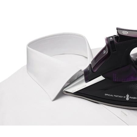 Fier de calcat Rowenta Fashion Focus DW5125, Talpa Microsteam 400 Laser, 2400 W, 0.3 l, 40 g/min, 150 g/min, 2 m, Mov/Negru
