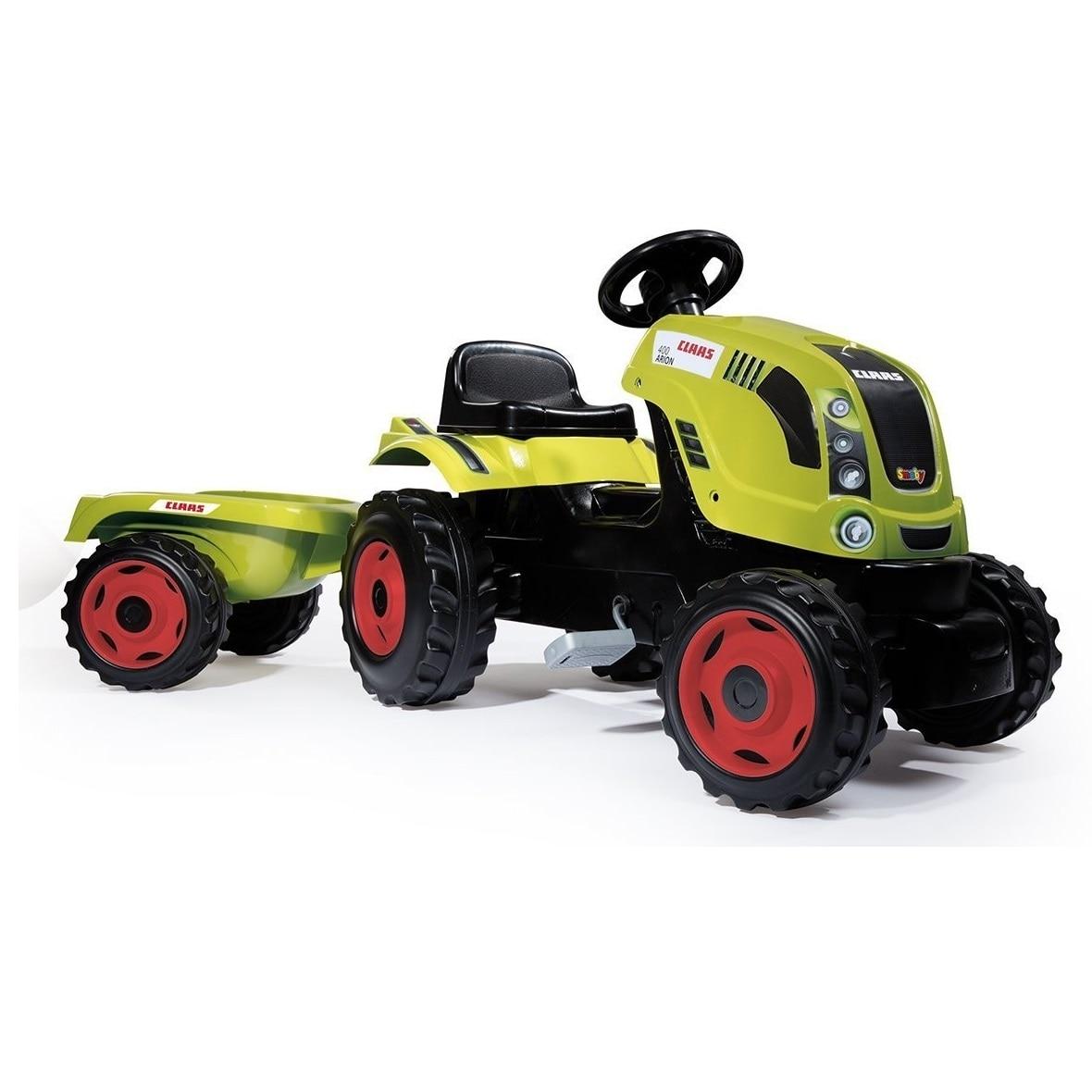 Fotografie Tractor cu pedale si remorca Smoby Class Farmer XL