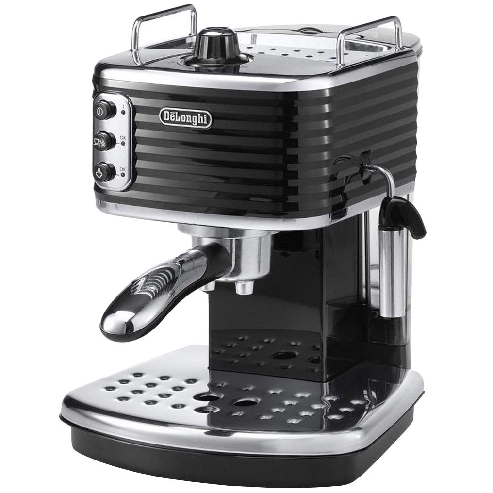 Fotografie Espressor manual premium De'Longhi Scultura ECZ351.BK, 1100 W, 1.4 l, 15 bari, Sistem Cappucino, Negru