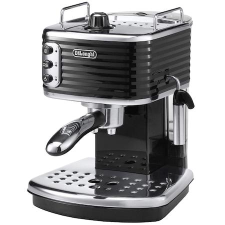 Еспресо машина DeLonghi Scultura ECZ351.BK, 15 bar, 1100 w, Ръчна капучино система