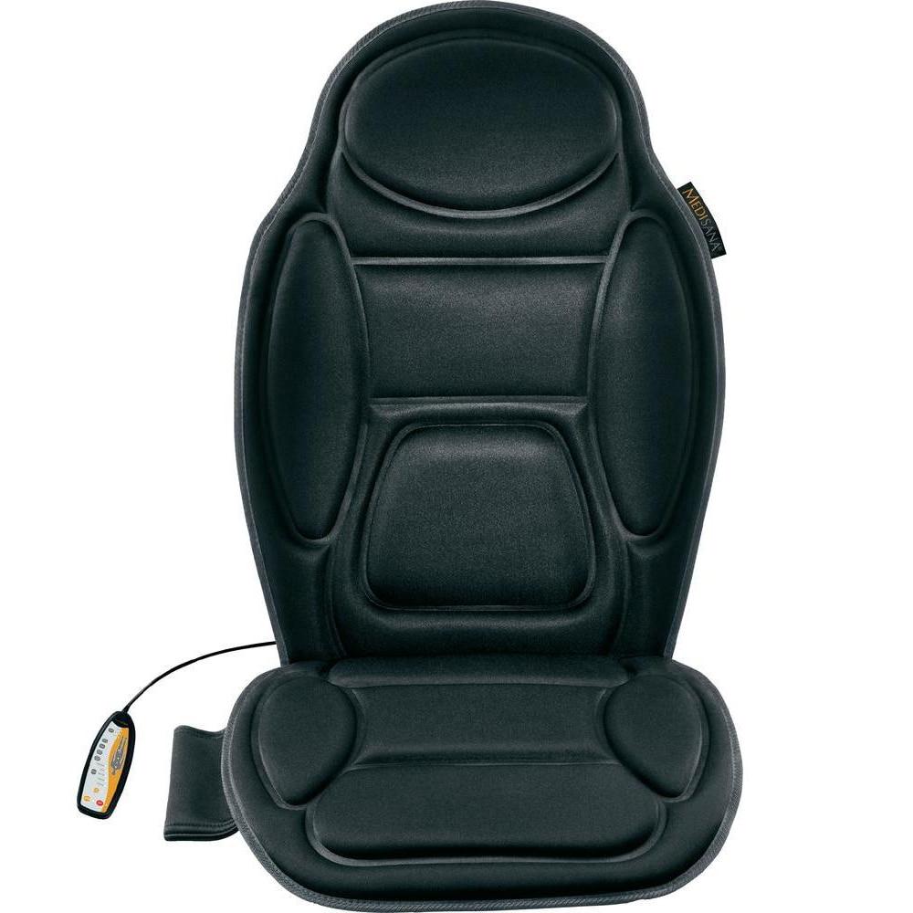 Fotografie Husa de scaun pentru masaj Medisana MCH 88935, 3 zone pentru masaj, Vibromasaj, Functie de incalzire, Telecomanda, Negru