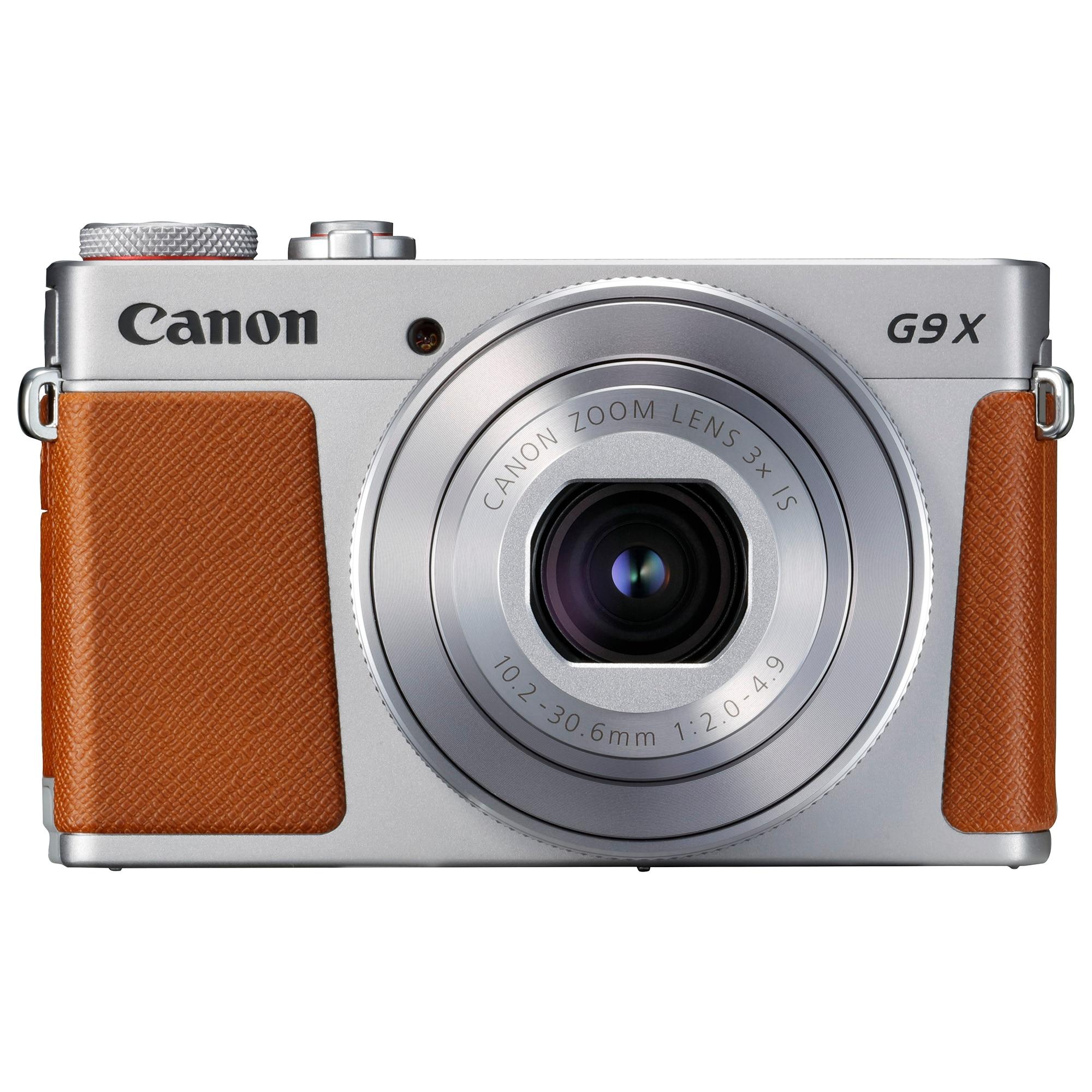 Fotografie Aparat foto digital Canon Powershot G9 X II, 20.9MP, Wi-Fi, Argintiu