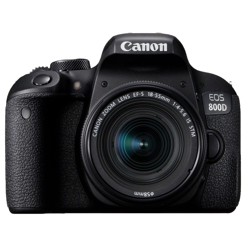 Fotografie Aparat foto DSLR Canon EOS 800D, 24.2MP, Wi-Fi, Negru + Obiectiv EF-S 18-55mm f/4-5.6 IS STM