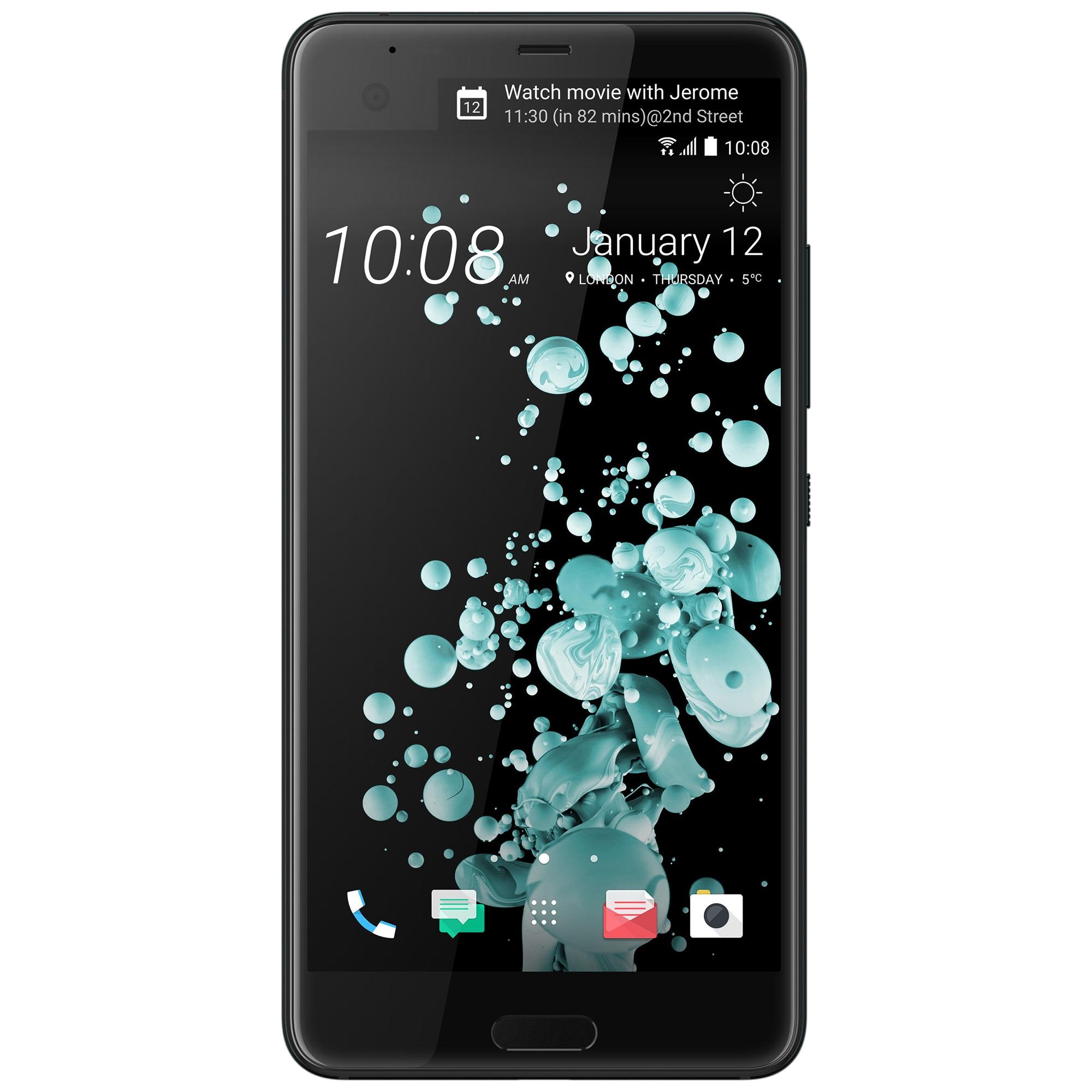 Fotografie Telefon mobil HTC U Ultra, 64GB, 4G, Brilliant Black